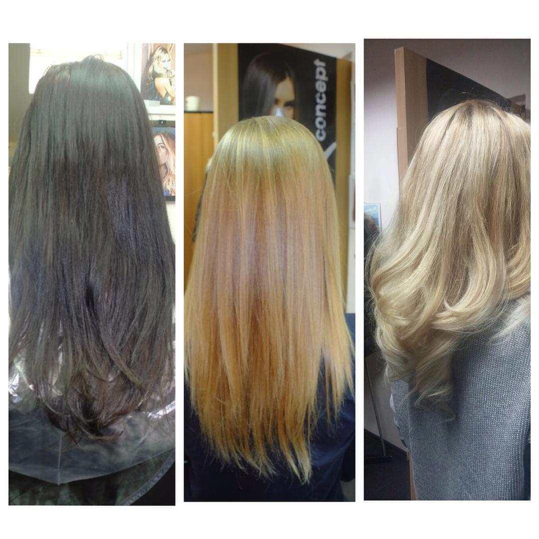 Как перекрасить чёрный цвет волос в светлый