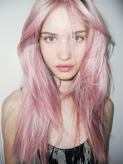 cute-pastel-pink-hair