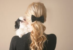 hair-bow-black-leather
