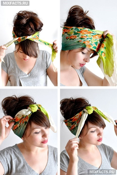 Как быстро сделать повязку на голову